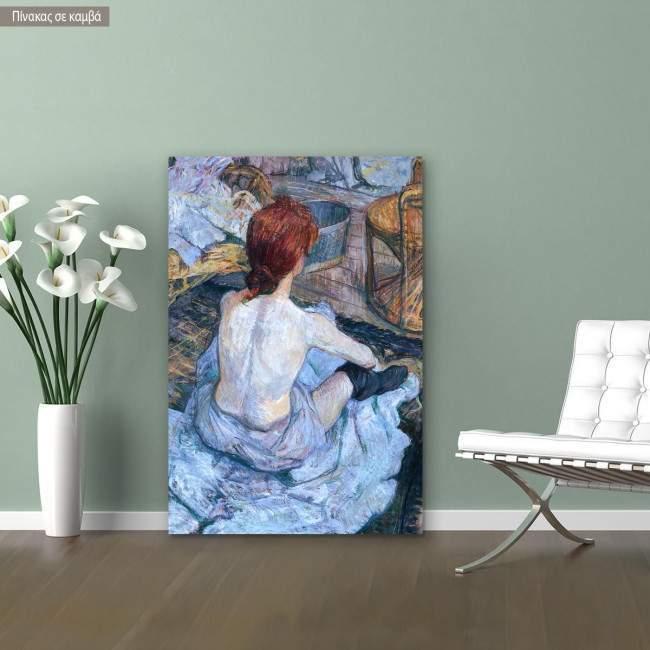 Canvas print La toilette, Henri de Toulouse Lautrec