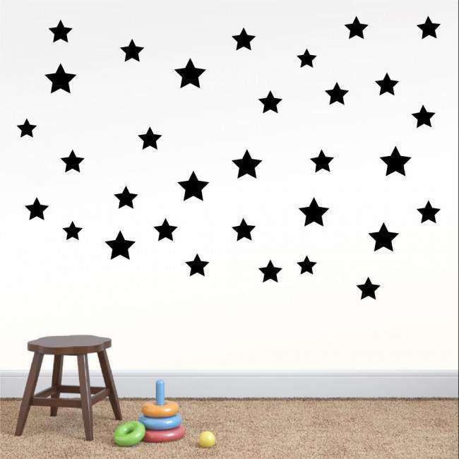 Αυτοκόλλητα τοίχου παιδικά Αστέρια σε διάφορα μεγέθη