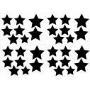 Kids wall stickers Stars at various sizes