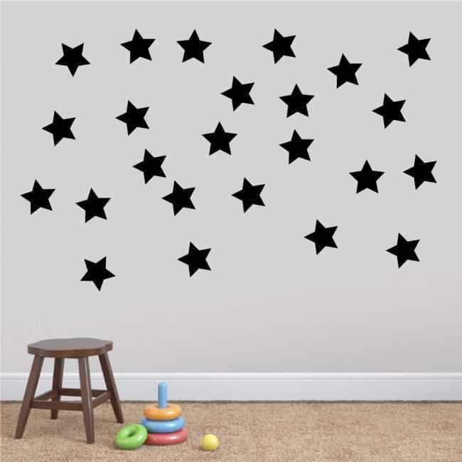 Αυτοκόλλητα τοίχου παιδικά Αστέρια, μεγάλο μέγεθος