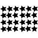 Kids wall stickers Stars, large size