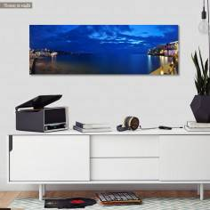 Πίνακας σε καμβά Night panorama, πανοραμικός