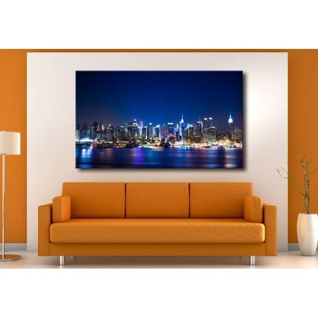 Πίνακας σε καμβά Νέα Υόρκη, New York Manhattan skyline