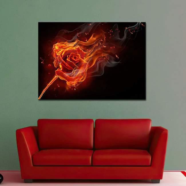 Canvas print Burning rose