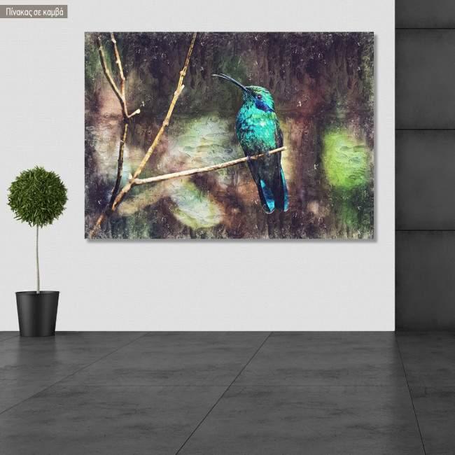 Πίνακας σε καμβά Colibri