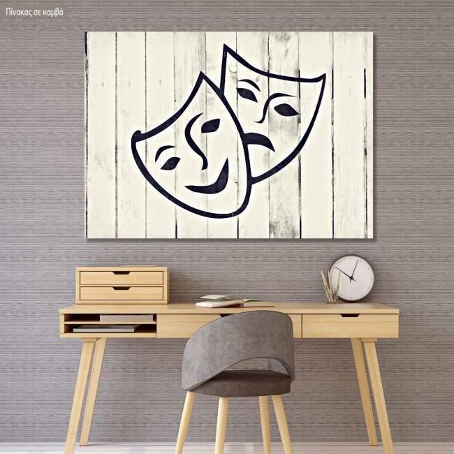 Πίνακας σε καμβά Masks impasto oil paint