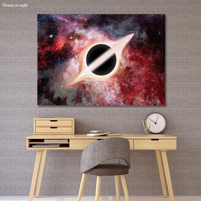 Πίνακας σε καμβά Μαύρη τρύπα, Black hole