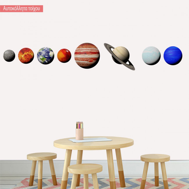 Kids wall stickers Planets