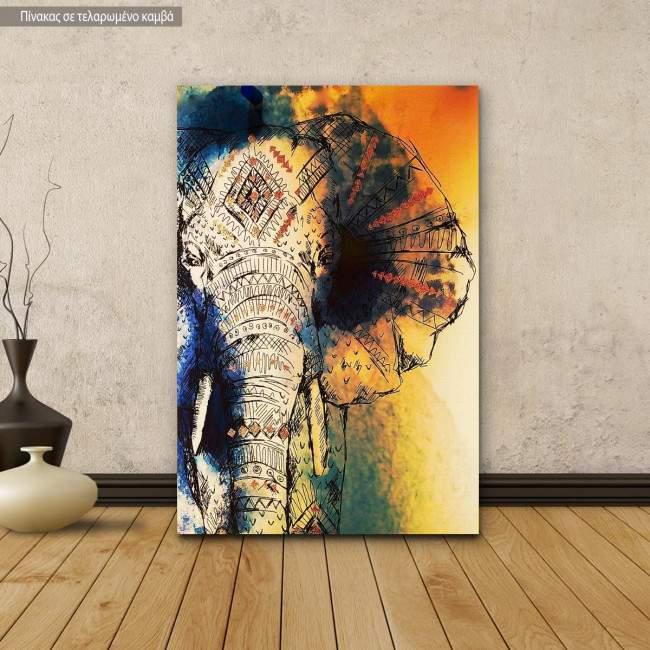 Πίνακας σε καμβά Elephant art