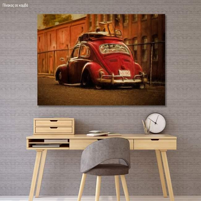 Πίνακας σε καμβά Cherry beetle
