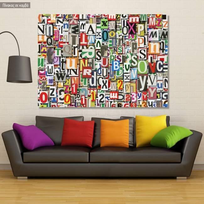 Πίνακας σε καμβά Digital collage horizontal