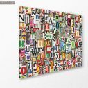 Πίνακας σε καμβά Digital collage horizontal, κοντινό