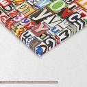 Πίνακας σε καμβά Digital collage horizontal, λεπτομέρεια