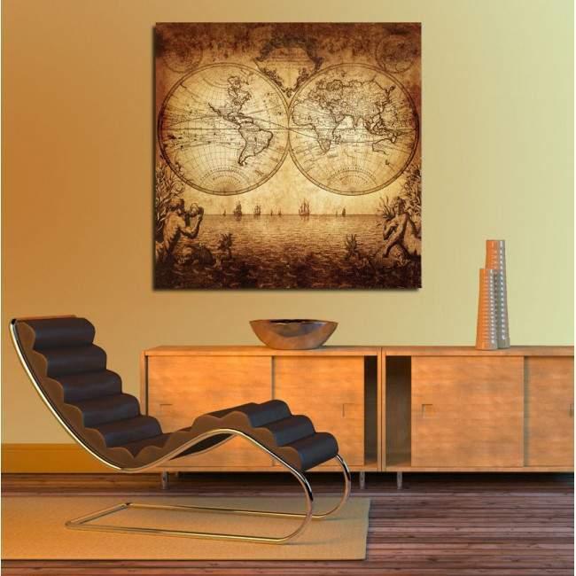 Canvas print World map 1733