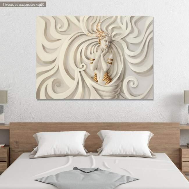 Πίνακας σε καμβά Goddess sculpture