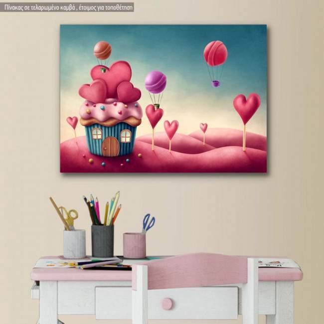 Πίνακας παιδικός σε καμβά Sweet love