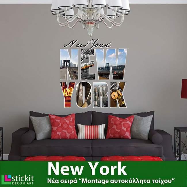 Αυτοκόλλητο τοίχου Νέα Υόρκη, New York, Montage