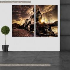 Canvas print two panels with your photo