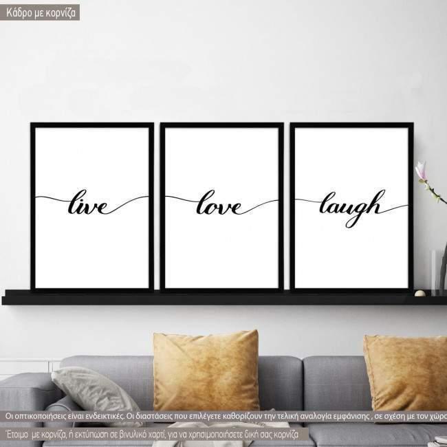 live love laugh, κάδρο 1