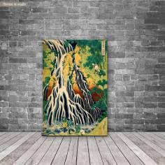 Canvas print WhKirifuri waterfall at Mt.Kurokami, Hokusai K.