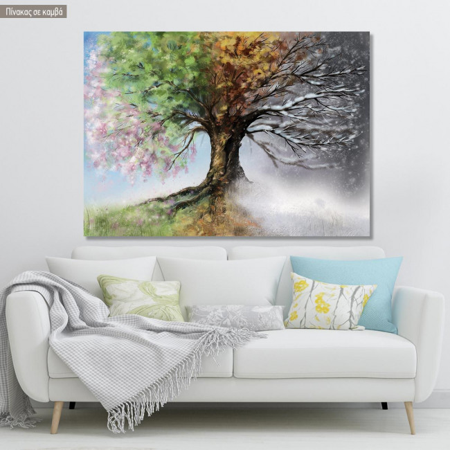 Canvas print Four season tree