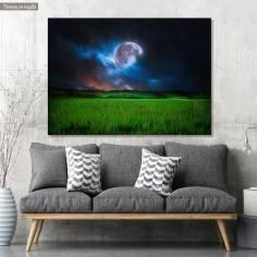 Πίνακας σε καμβά Earth & Moon
