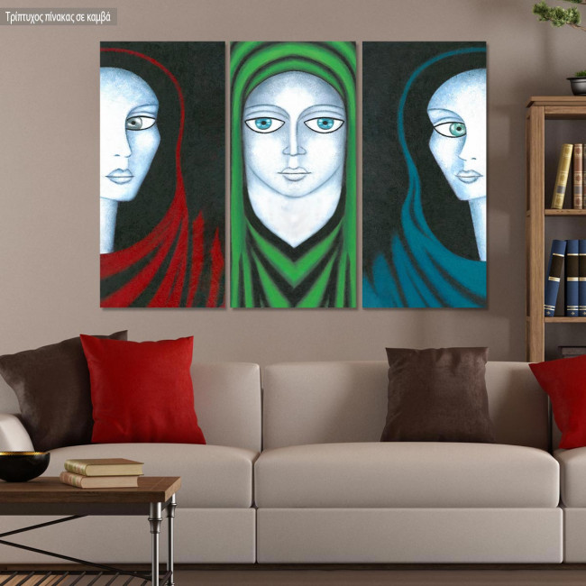 Canvas print Ladies,  3 panels