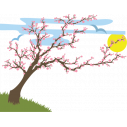 Wall stickers Spring landscape