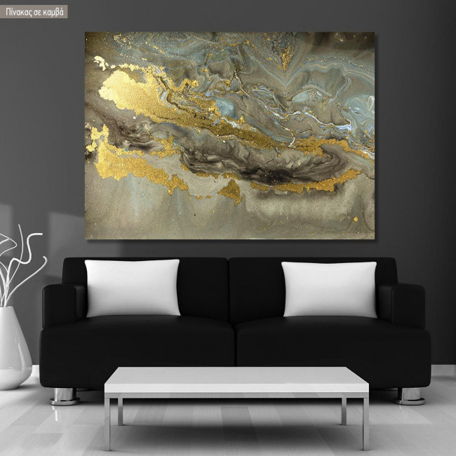 Canvas print Gold marble texture
