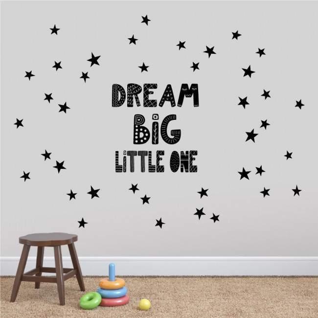 Kids wall stickers DREAM BIG little one scandinavian