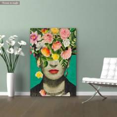 Πίνακας σε καμβά Flowered Frida