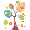 Wall sticker Easter  tree