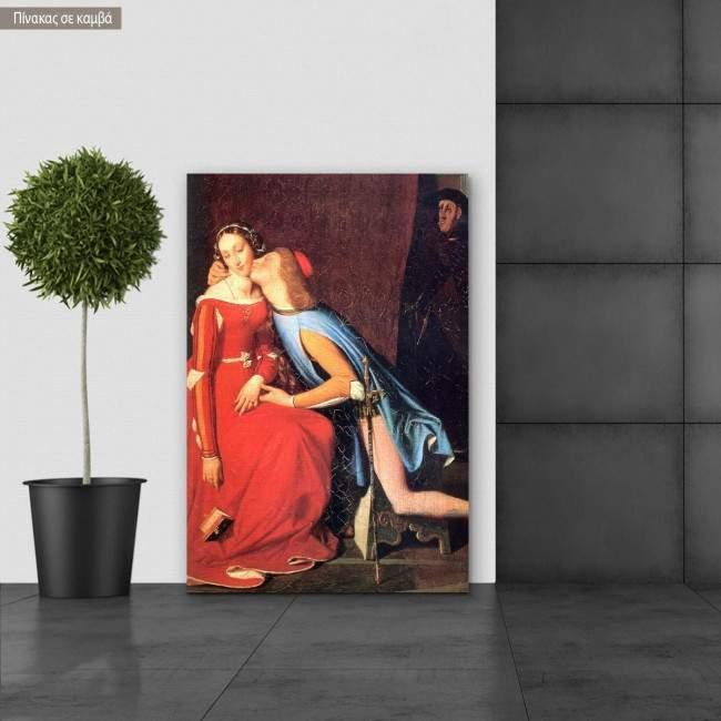 Canvas print Francesca da Rimini, Ingres Jean August