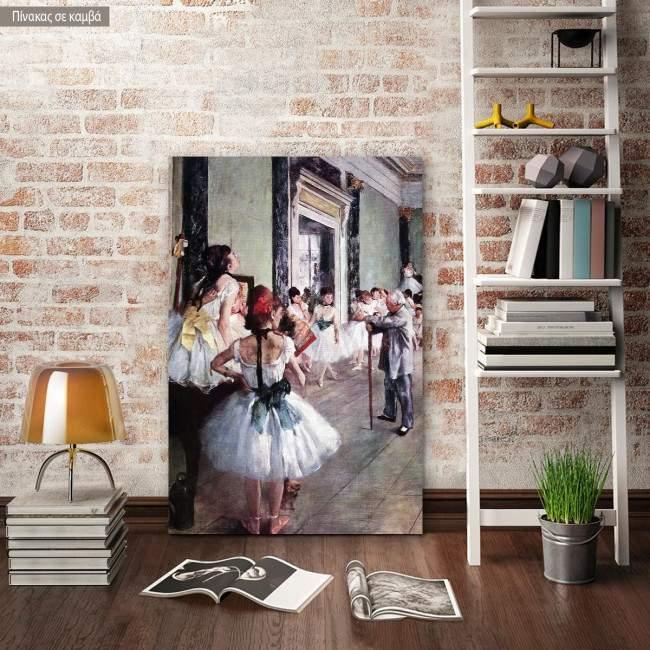 Πίνακας ζωγραφικής The dance class, Degas Edgar, αντίγραφο σε καμβά