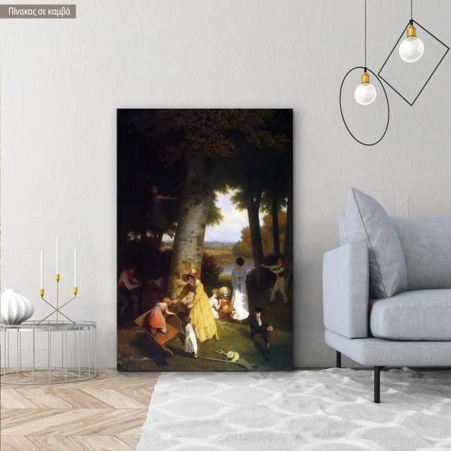 Πίνακας ζωγραφικής The playground, Agasse, αντίγραφο - αναπαραγωγή πινακα σε καμβά