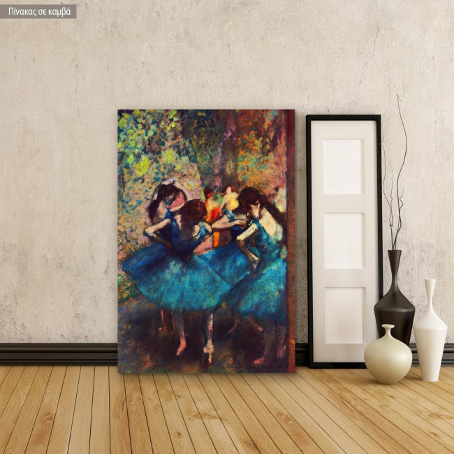 Πίνακας ζωγραφικής Dancers in blue, Edgar Degas, αντίγραφο σε καμβά