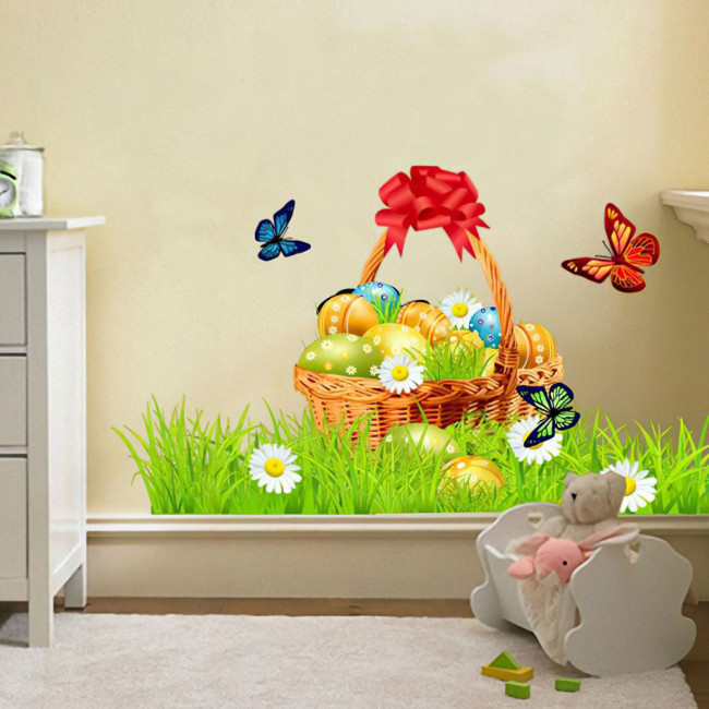 Wall sticker Easter  basket