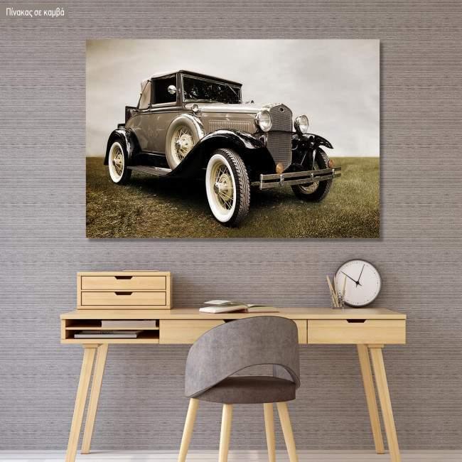 Πίνακας σε καμβά Retro car