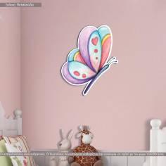 Ξύλινη φιγούρα εκτυπωμένη Πεταλούδα