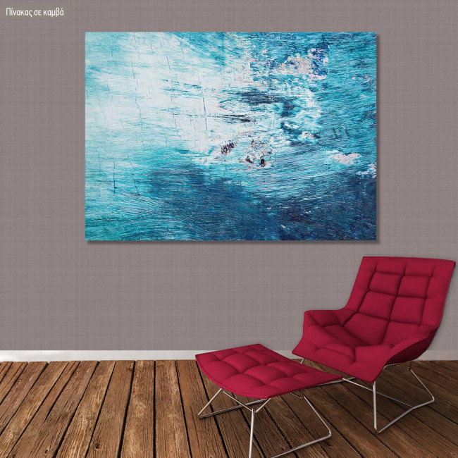 Πίνακας σε καμβά Blue abstract