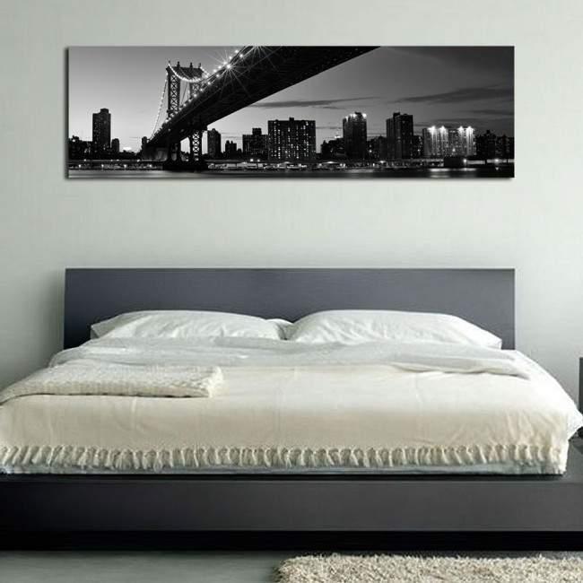 Canvas print Manhattan bridge, panoramic