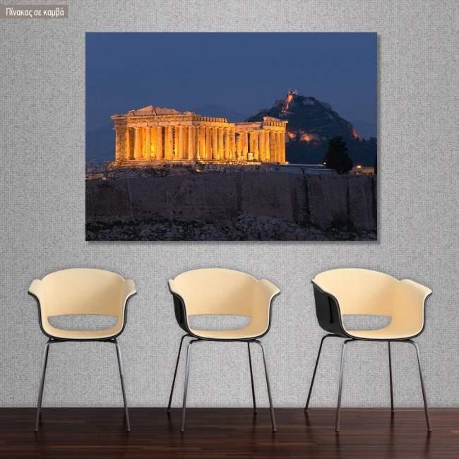 Canvas print Parthenon at night