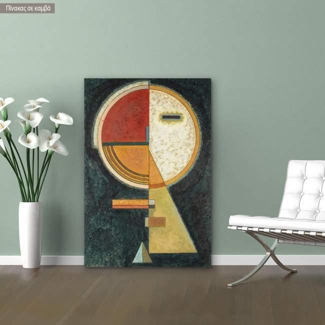 Πίνακας ζωγραφικής Unstable compensation, Kandinsky W, αντίγραφο σε καμβά