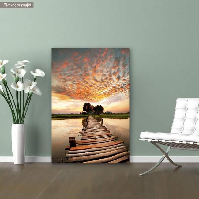 Canvas print Path to sunset