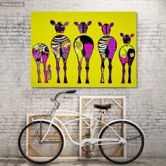 Canvas print Pop art zebras, Zebradelic