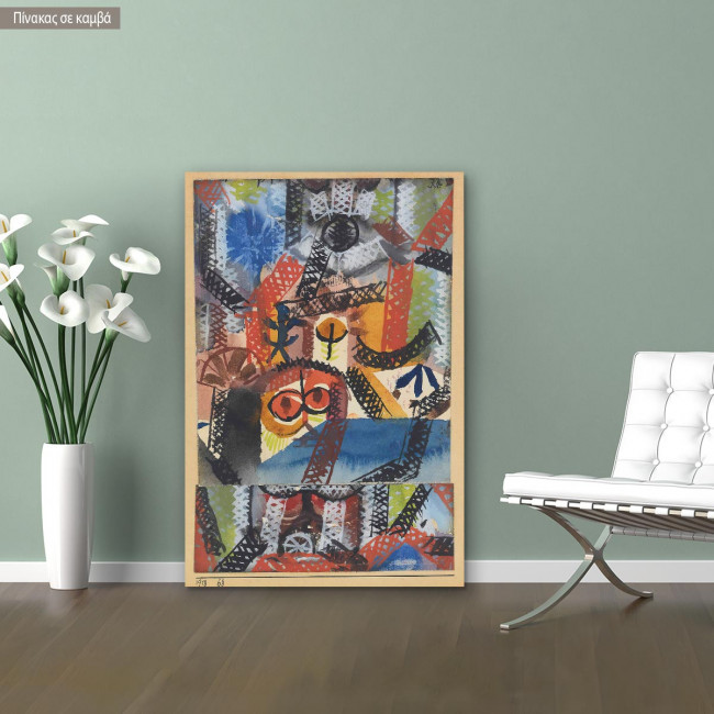 Canvas print Barbarian composition, Klee P.