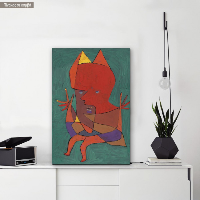 Canvas print Small fire devil, Klee P.