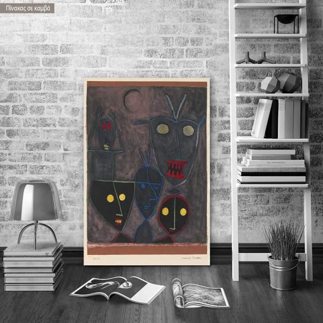 Canvas print Demonic puppets, Klee P.