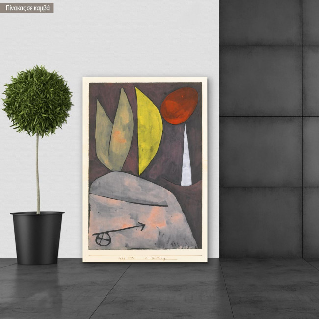 Canvas print Artistic comedy, Klee P.