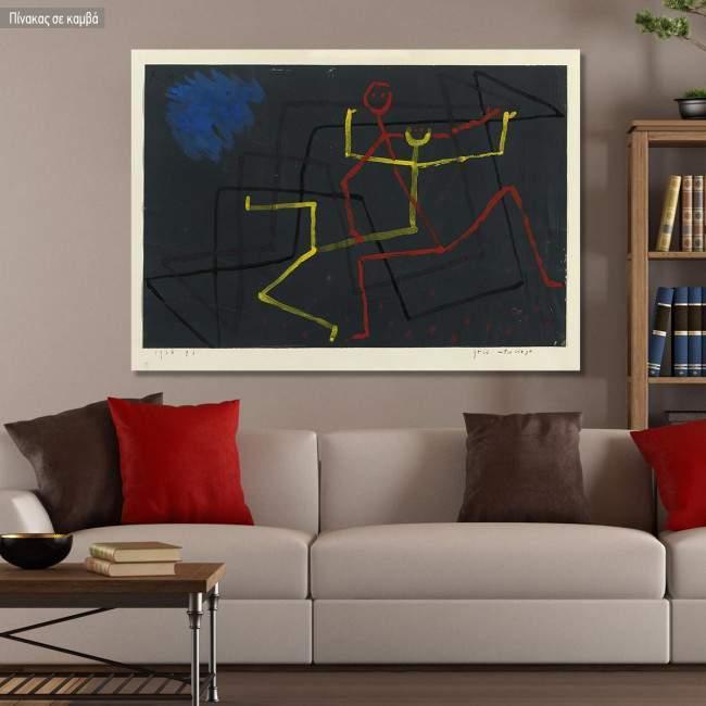Canvas print, Yellow subject, Klee P.